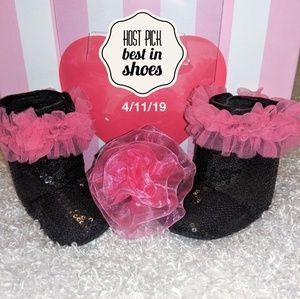👸🌸My Little princess sequin booties